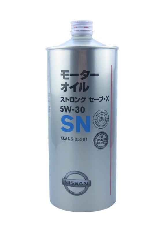 Моторное масло Nissan Strong Save X 5W-30 SN (KLAN3-05301) 1л