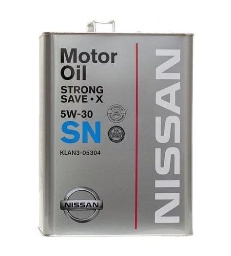 Моторное масло Nissan Strong Save X 5W-30 SN (KLAN3-05304) 4л