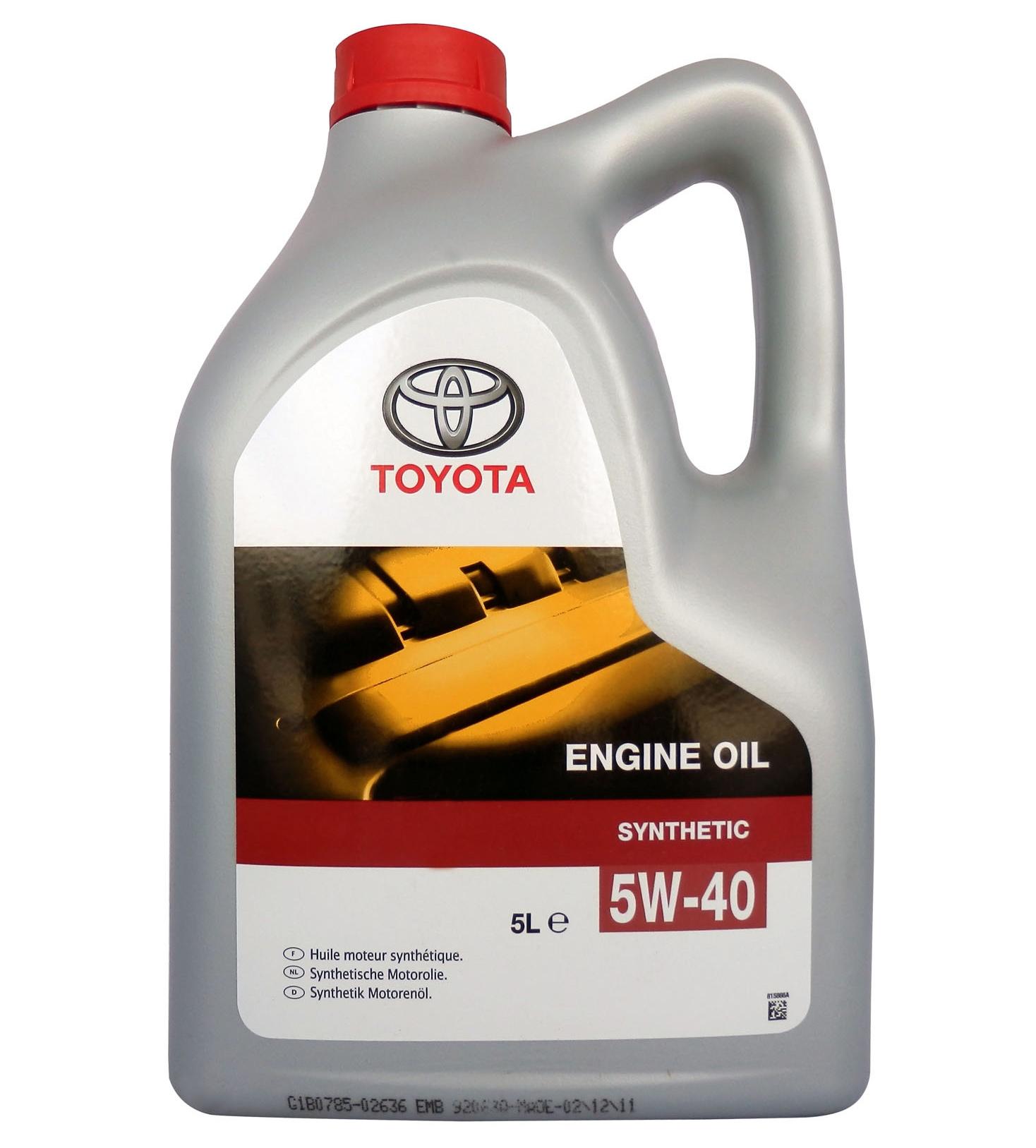 Моторное масло Toyota SL/CF 5W-40 5л