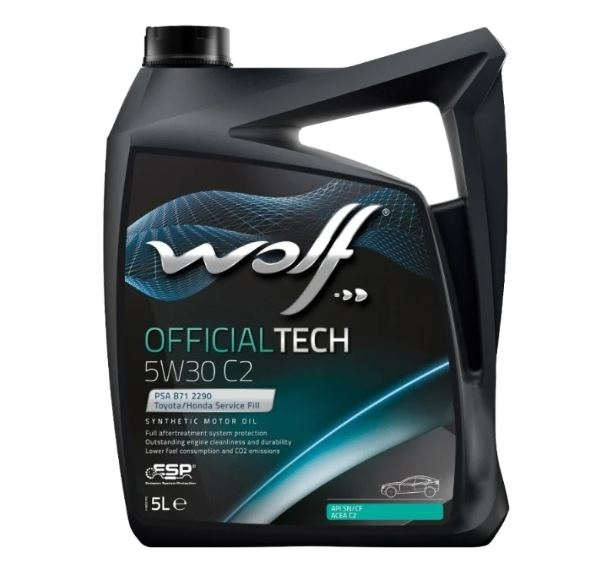 Моторное масло Wolf Official Tech 5W-30 C2 5л