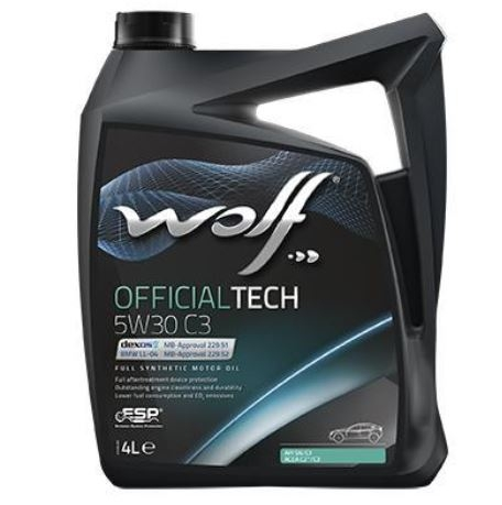 Моторное масло Wolf Official Tech 5W-30 C3 4л