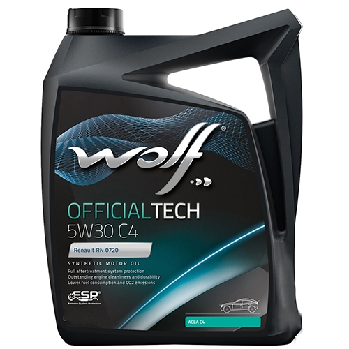 Моторное масло Wolf Official Tech 5W-30 C4 4л