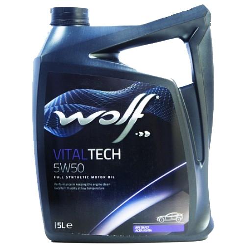 Моторное масло Wolf Vital Tech 5W-50 5л