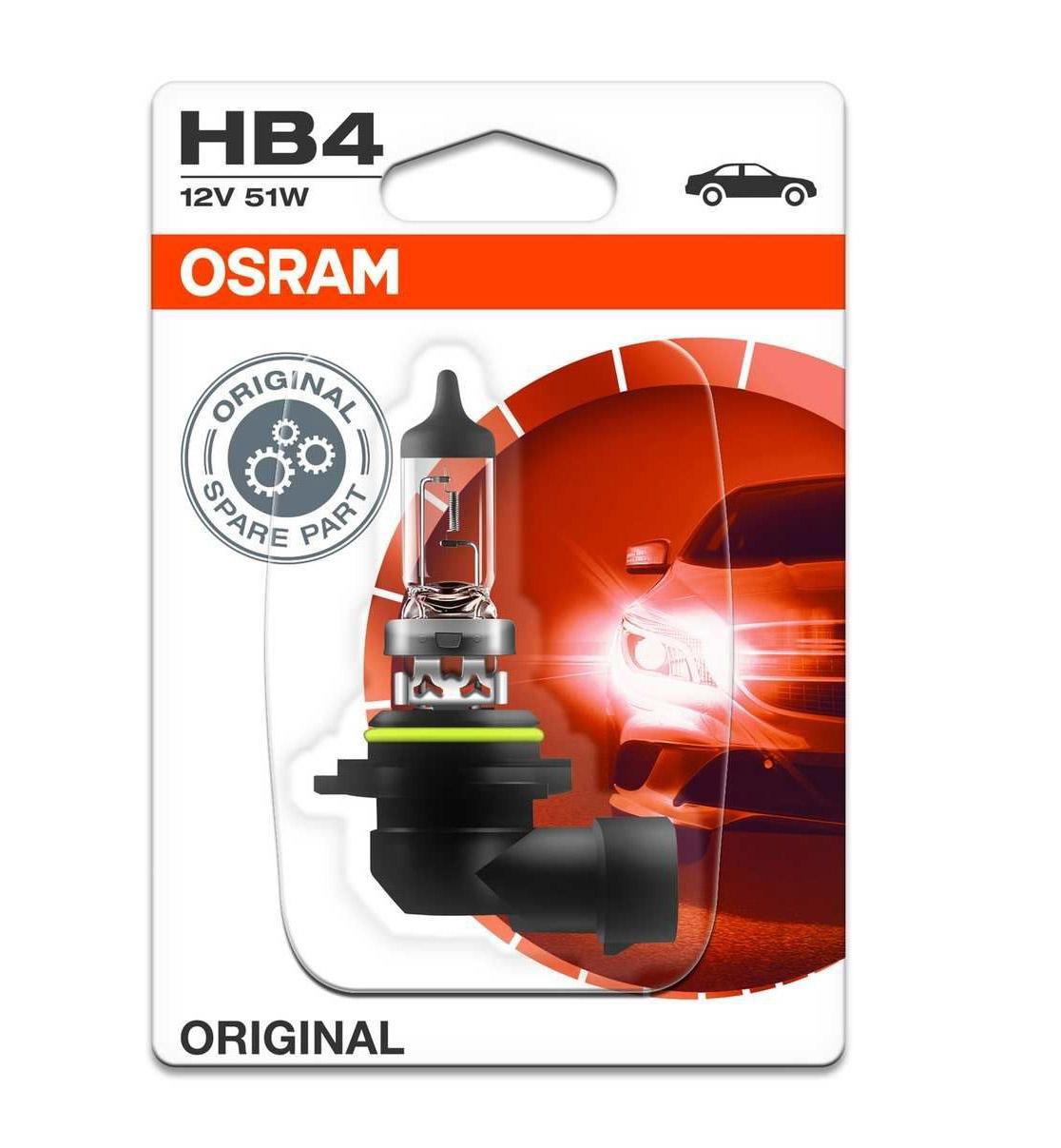 Лампа галогенная Osram HB4 Original Line Blister 1шт