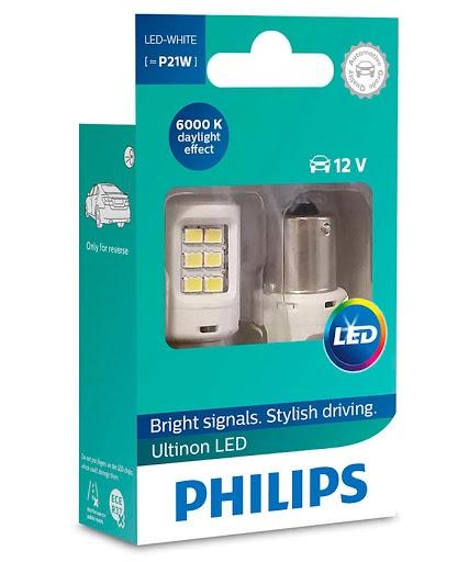 Лампа светодиодная P21W Philips Ultinon LED 2шт