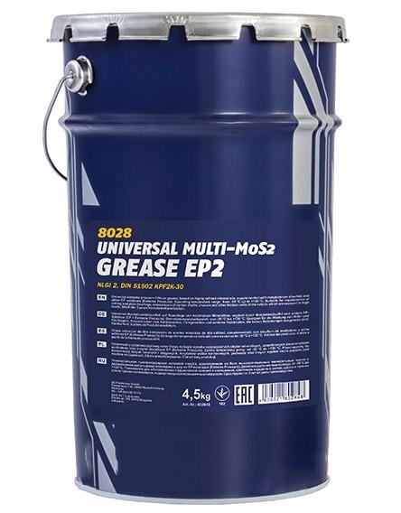 Смазка Mannol EP-2 Universal Multi-MoS2 Grease 4.5кг