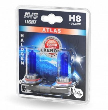 Лампа галогенная AVS Atlas H8 2шт