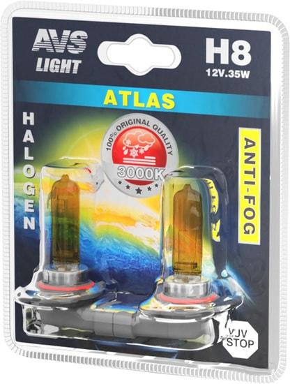 Лампа галогенная AVS Atlas Anti-Fog H8 2шт