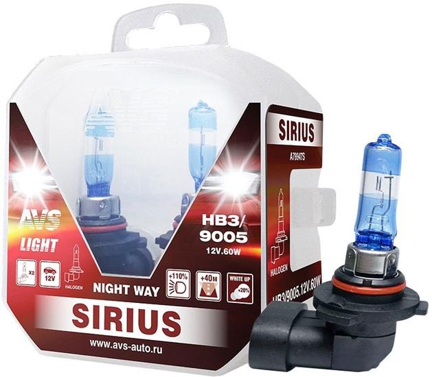 Лампа галогенная AVS Sirius Night Way HB3/9005 2шт