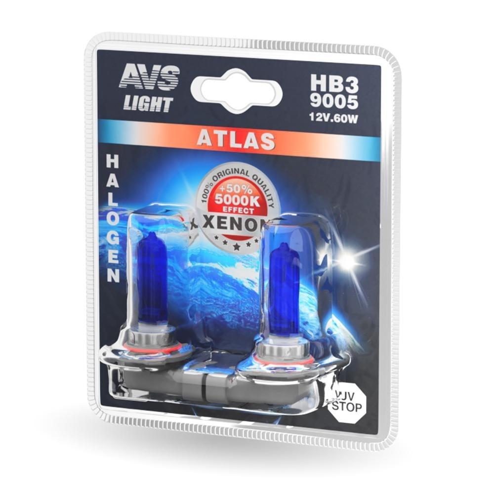 Лампа галогенная AVS Atlas HB3/9005 2шт