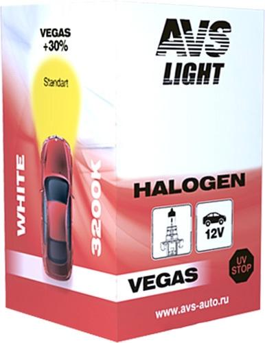 Лампа галогенная AVS Vegas HB3/9005 12V 65W 1шт [A78145S]