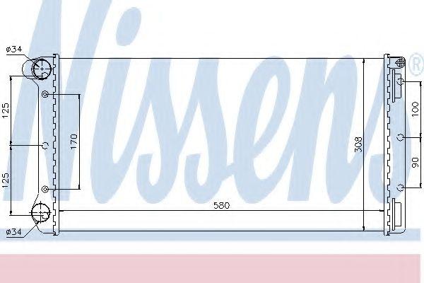 Радиатор системы охлаждения 61899 Nissens