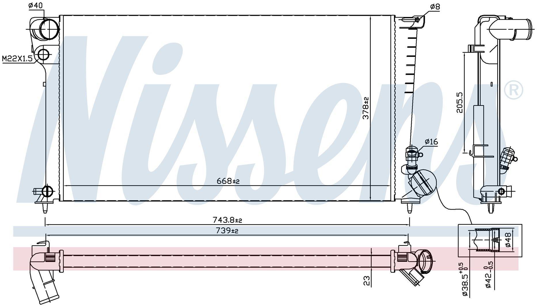 Радиатор NISSENS 61315
