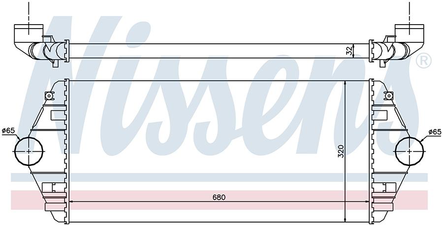 Интеркулер 96849 Nissens