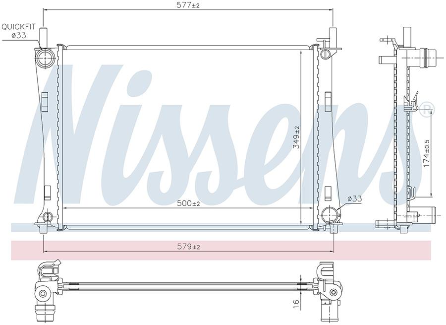 Радиатор NISSENS 62028A