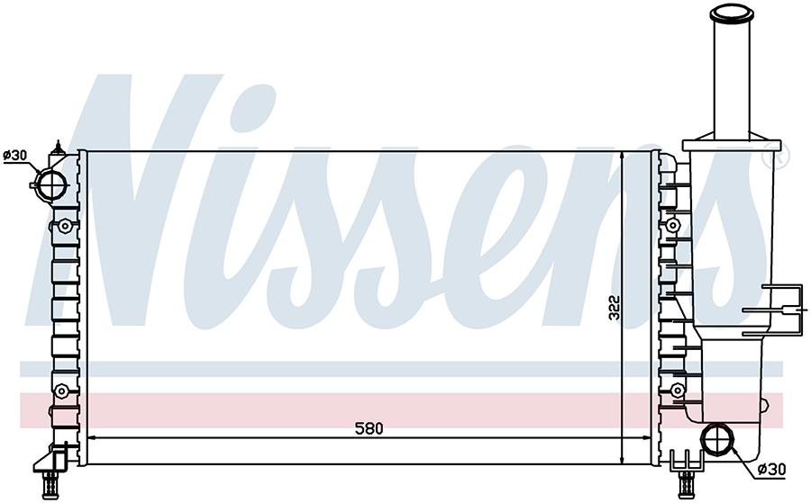 Радиатор NISSENS 61764