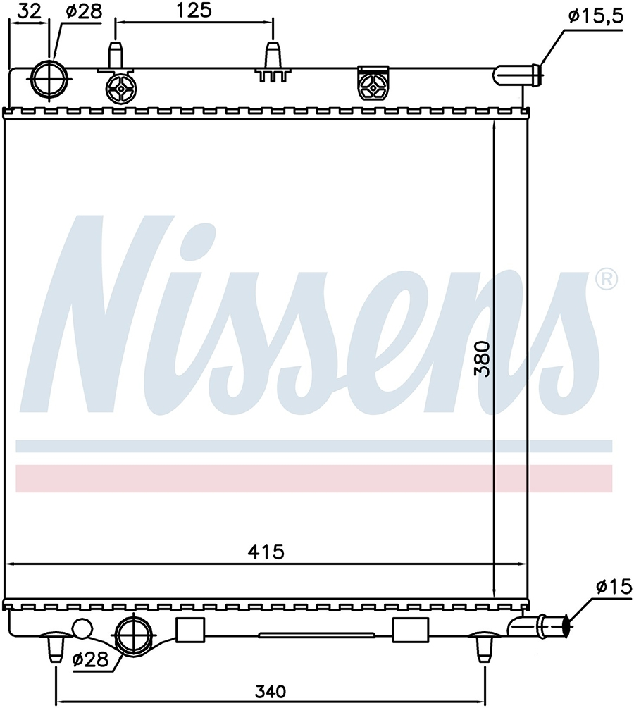 Радиатор NISSENS 61284