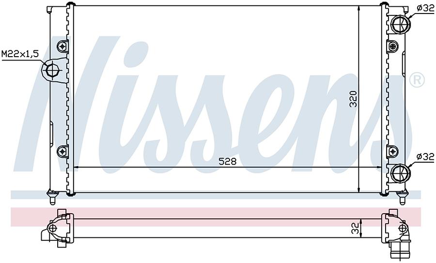 Радиатор NISSENS 651941