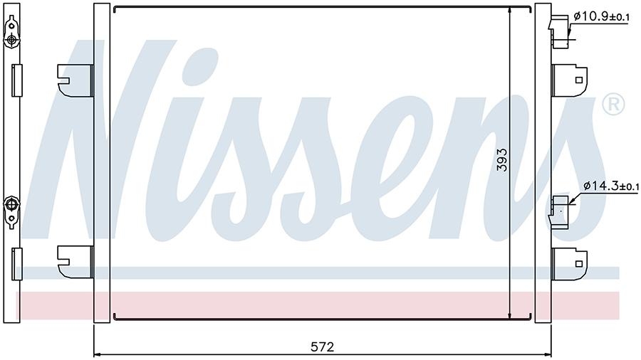 Радиатор кондиционера 94673 Nissens