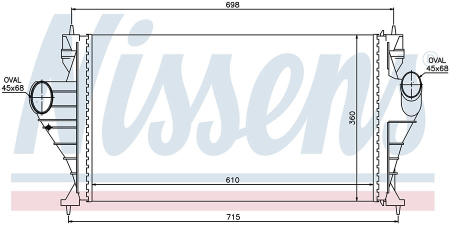 Интеркулер 96853 Nissens