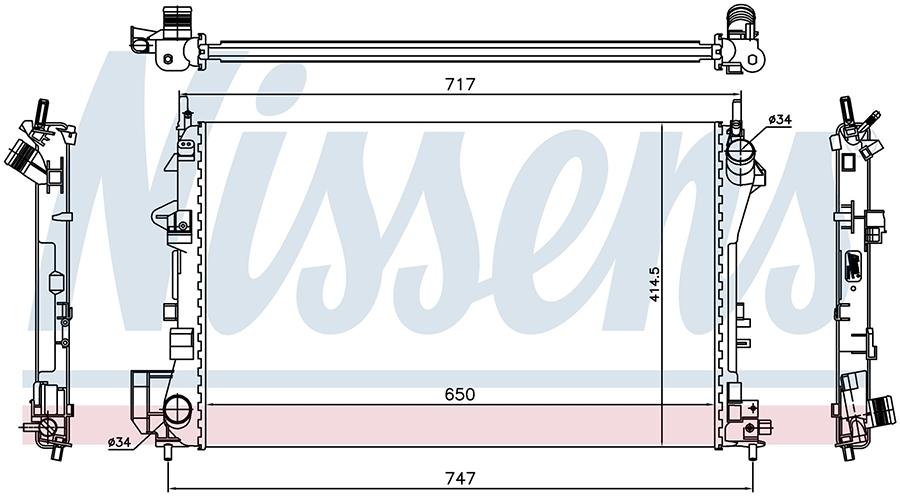Радиатор NISSENS 63024A
