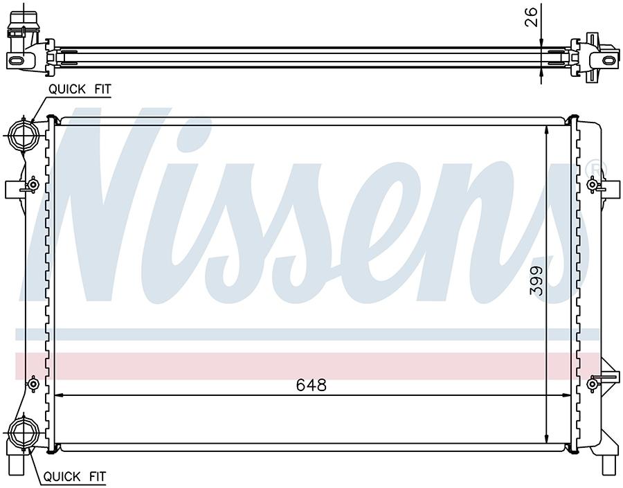 Радиатор NISSENS 65277A