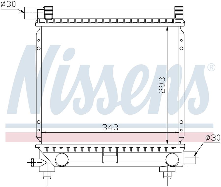 Радиатор NISSENS 62551