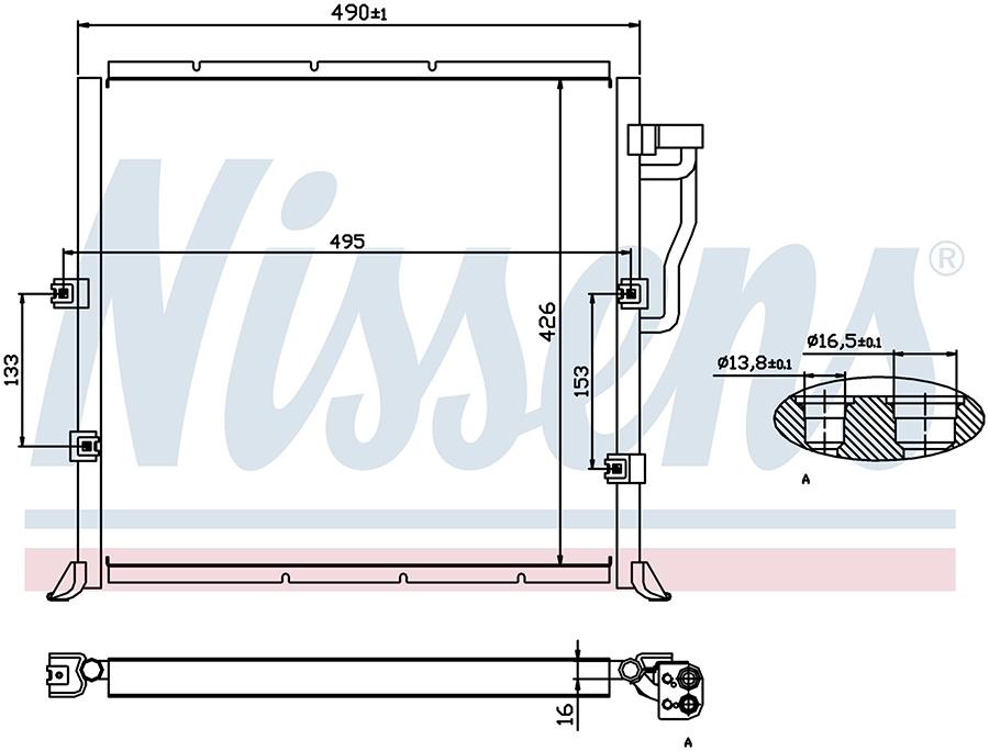Радиатор кондиционера 94157 Nissens