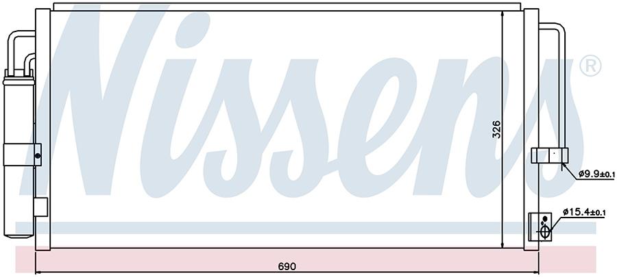 Радиатор кондиционера 94884 Nissens