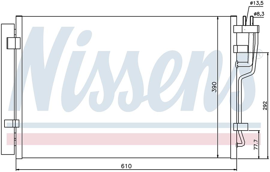 Радиатор кондиционера 940006 Nissens
