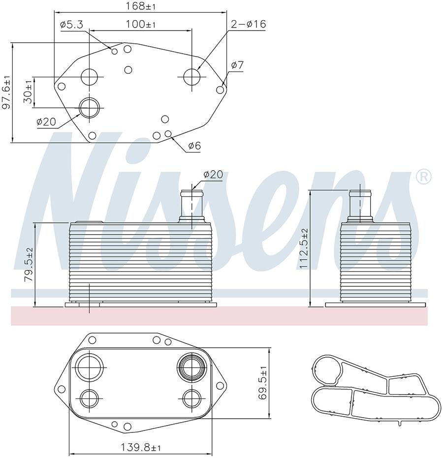 Радиатор кондиционера 90786 Nissens