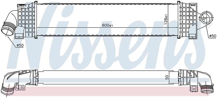 Интеркулер 96689 Nissens