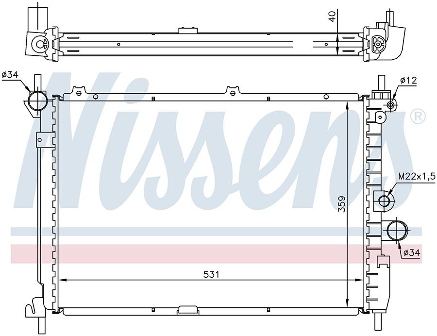 Радиатор NISSENS 63278A