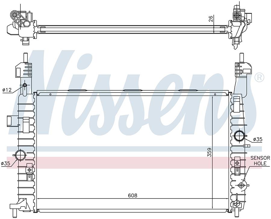 Радиатор NISSENS 63096