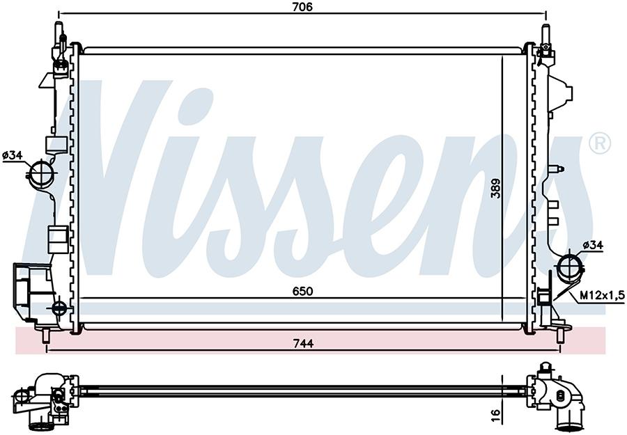 Радиатор NISSENS 63123