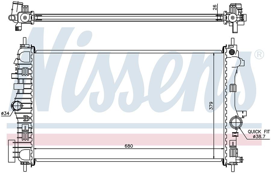 Радиатор NISSENS 630716