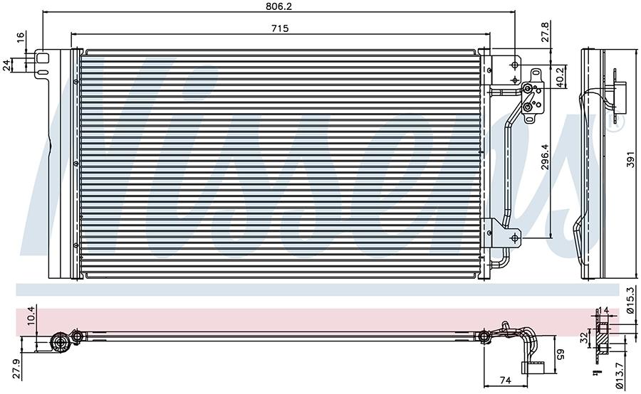 Радиатор кондиционера 94604 Nissens