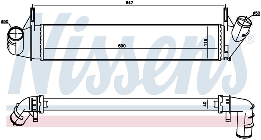 Интеркулер 96585 Nissens