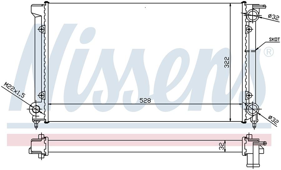 Радиатор системы охлаждения 651511 Nissens