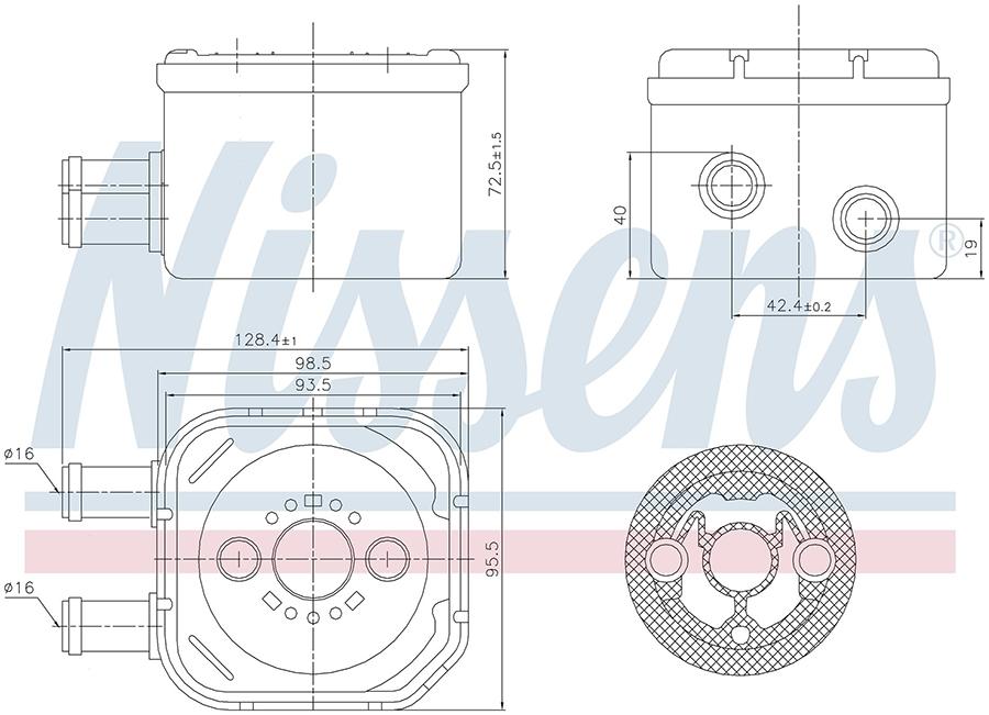 Радиатор кондиционера 90652 Nissens