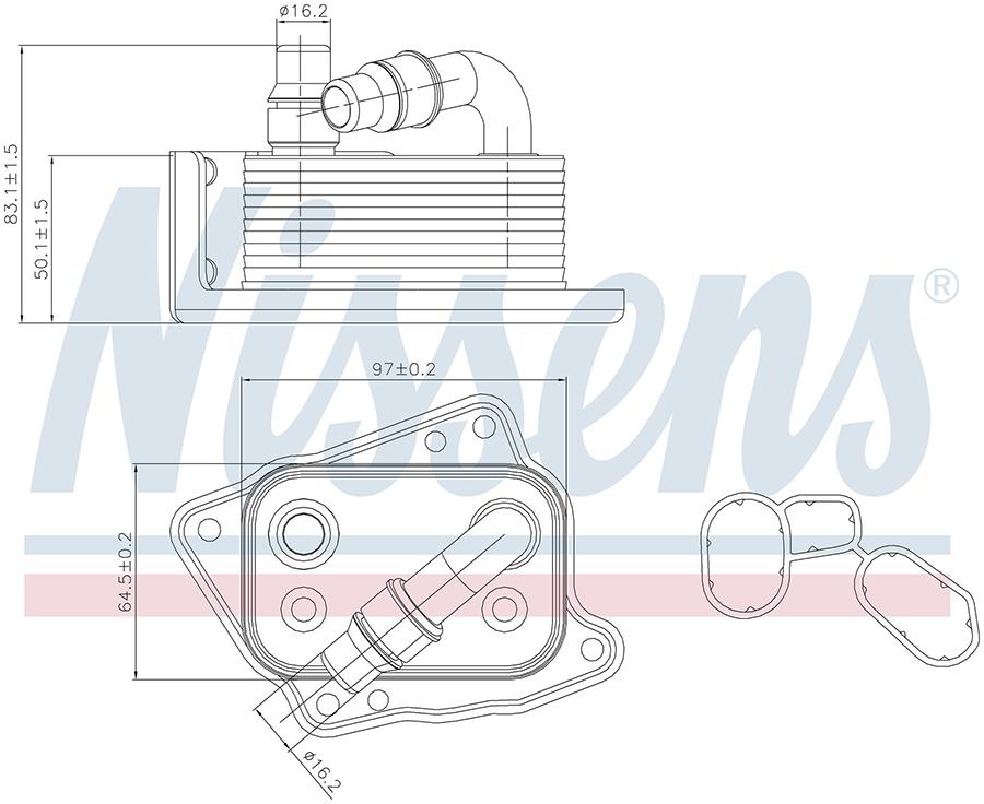 Радиатор кондиционера 90688 Nissens