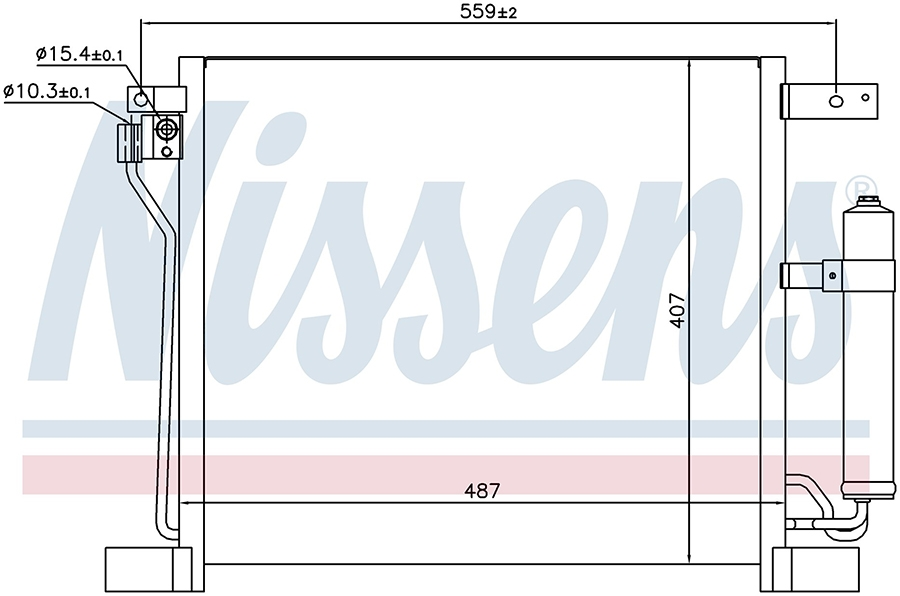Радиатор кондиционера 940384 Nissens