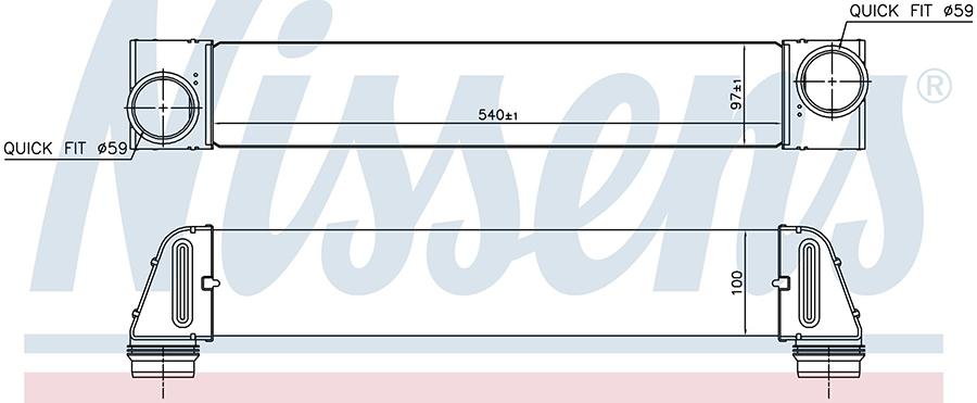 Интеркулер 96607 Nissens