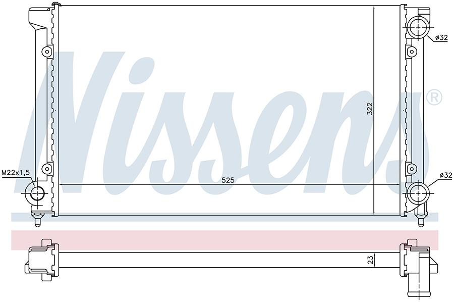 Радиатор системы охлаждения 651741 Nissens