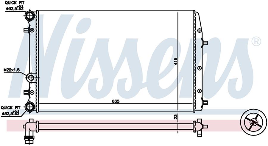 Радиатор системы охлаждения 652711 Nissens