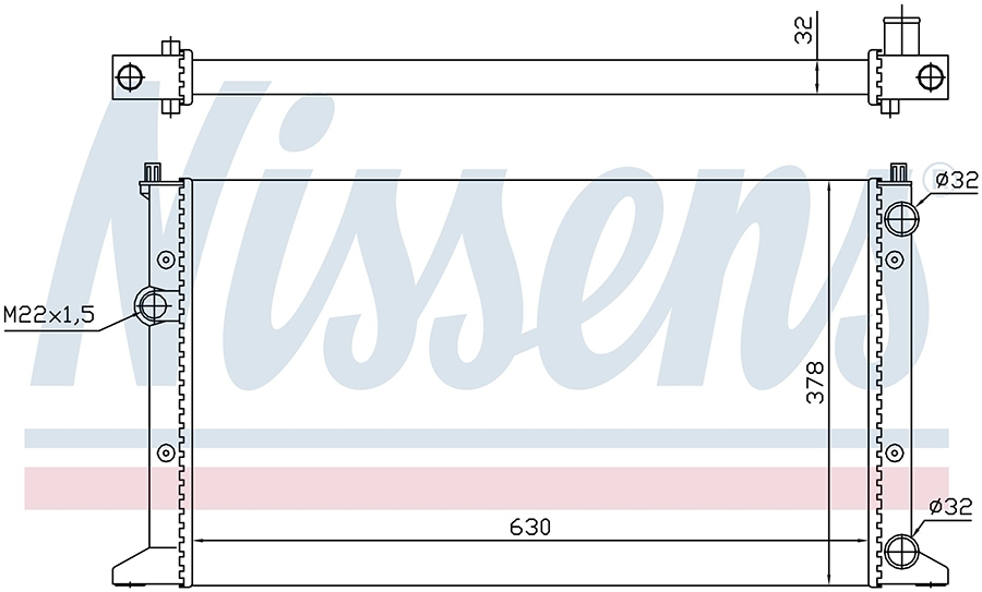Радиатор системы охлаждения 65266 Nissens
