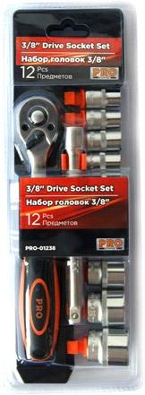 Набор торцевых головок PRO Startul 12 предметов PRO-01238