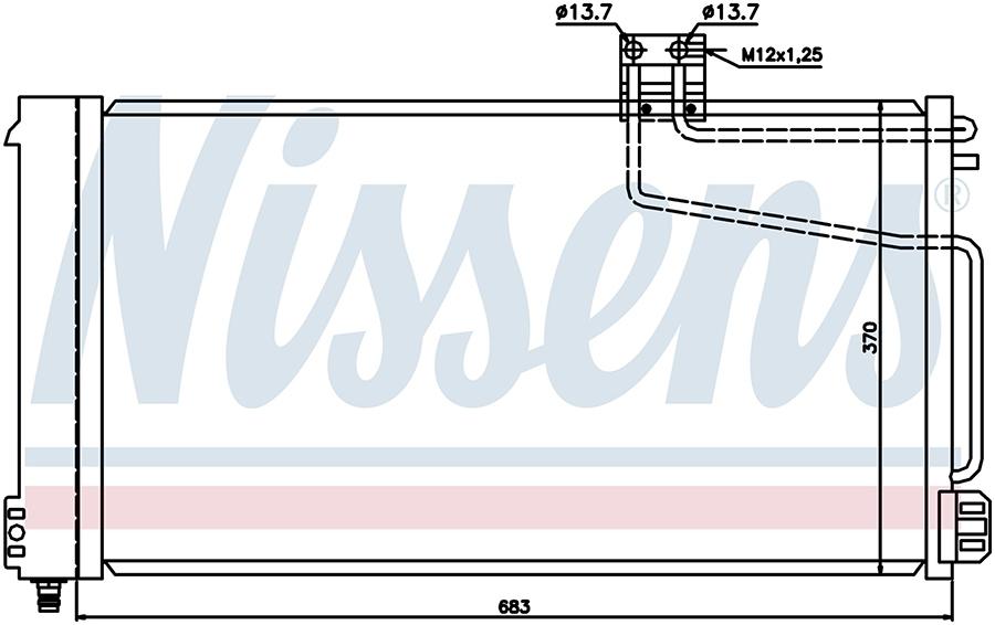 Радиатор кондиционера 94544 Nissens