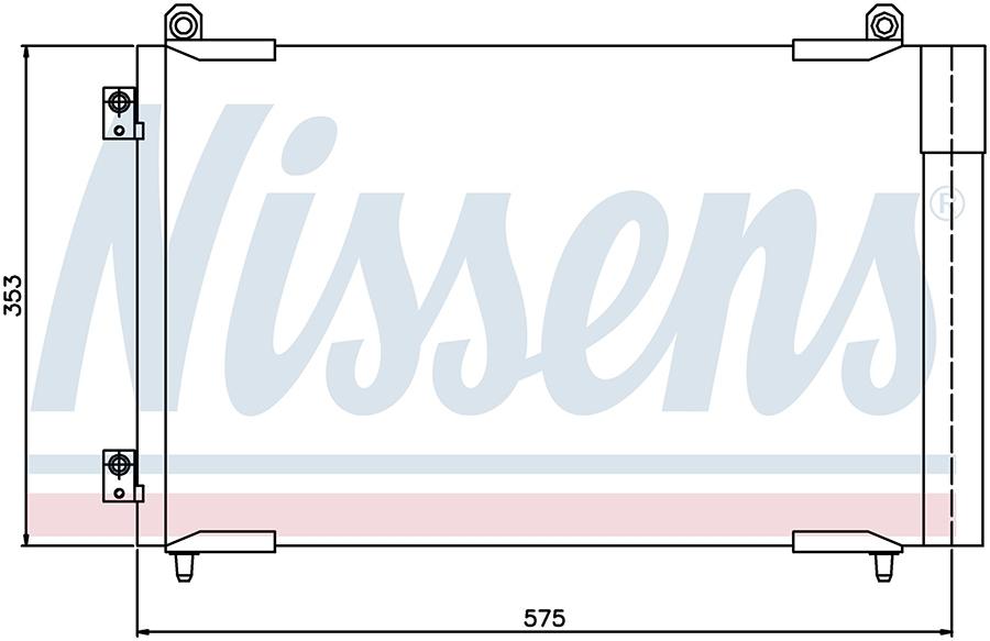 Радиатор кондиционера 94837 Nissens