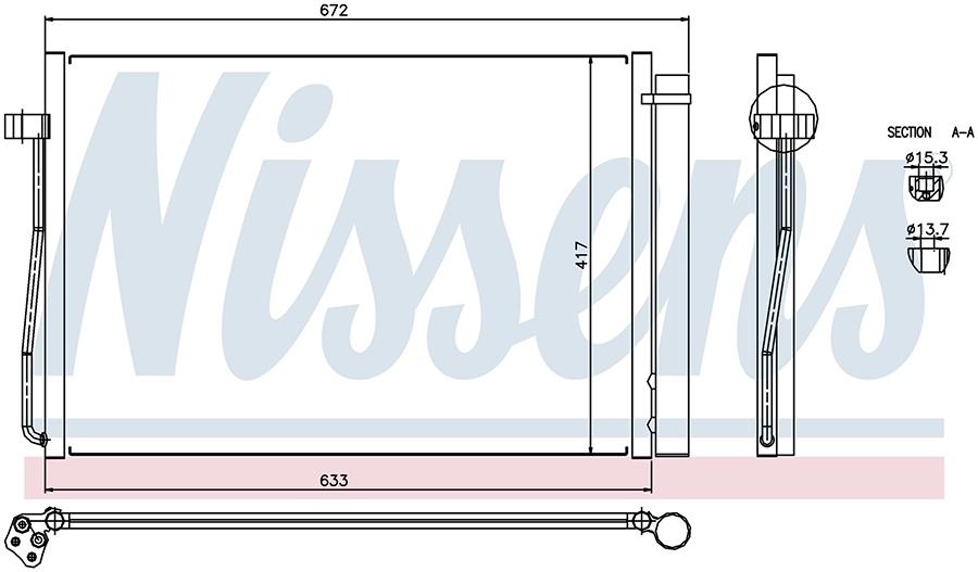 Радиатор кондиционера 94679 Nissens